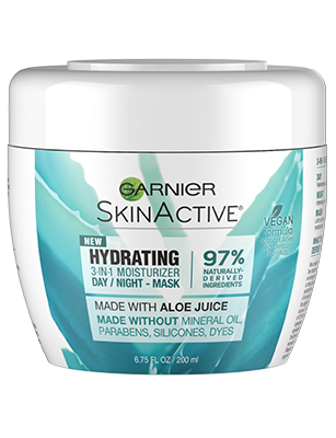 Hydrating 3 In 1 Aloe Moisturizer Face Mask Garnier Garnier Skin Active Face Moisturizer Moisturizer For Dry Skin