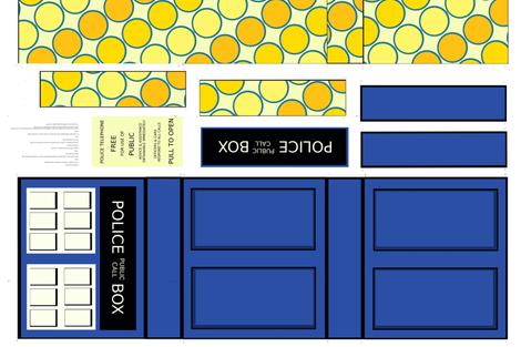 Police Box Messenger Bag Cut-and-sew Medium fabric by erin_k on Spoonflower - custom fabric