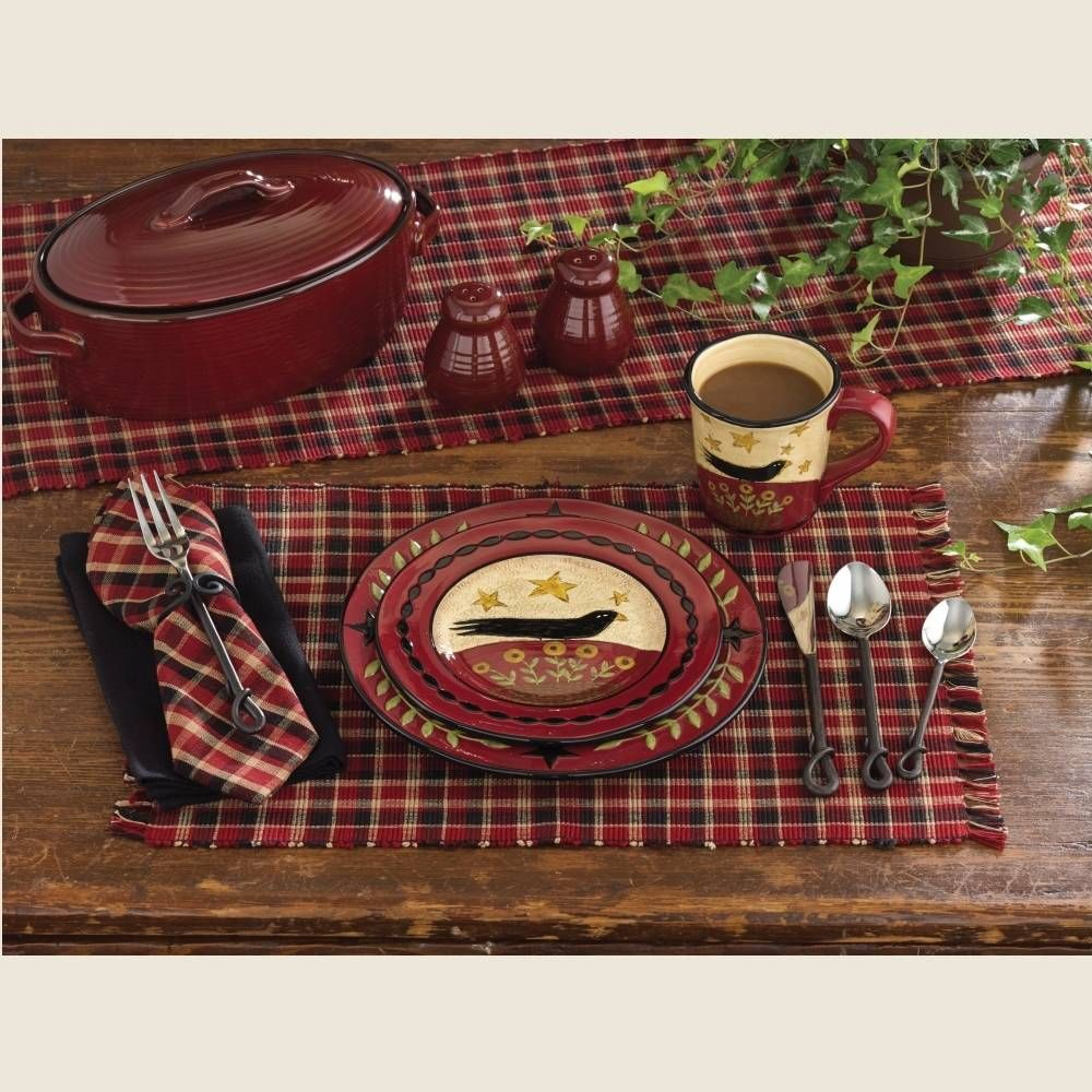 "Abbott Placemat, 13"" x 19"", so pretty and practical; 100% cotton, machine wash cold. Sold individually. #country #kitchen #placemat"