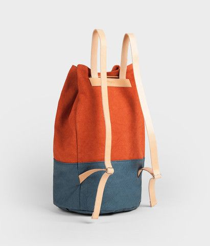 Backpack - navy russet