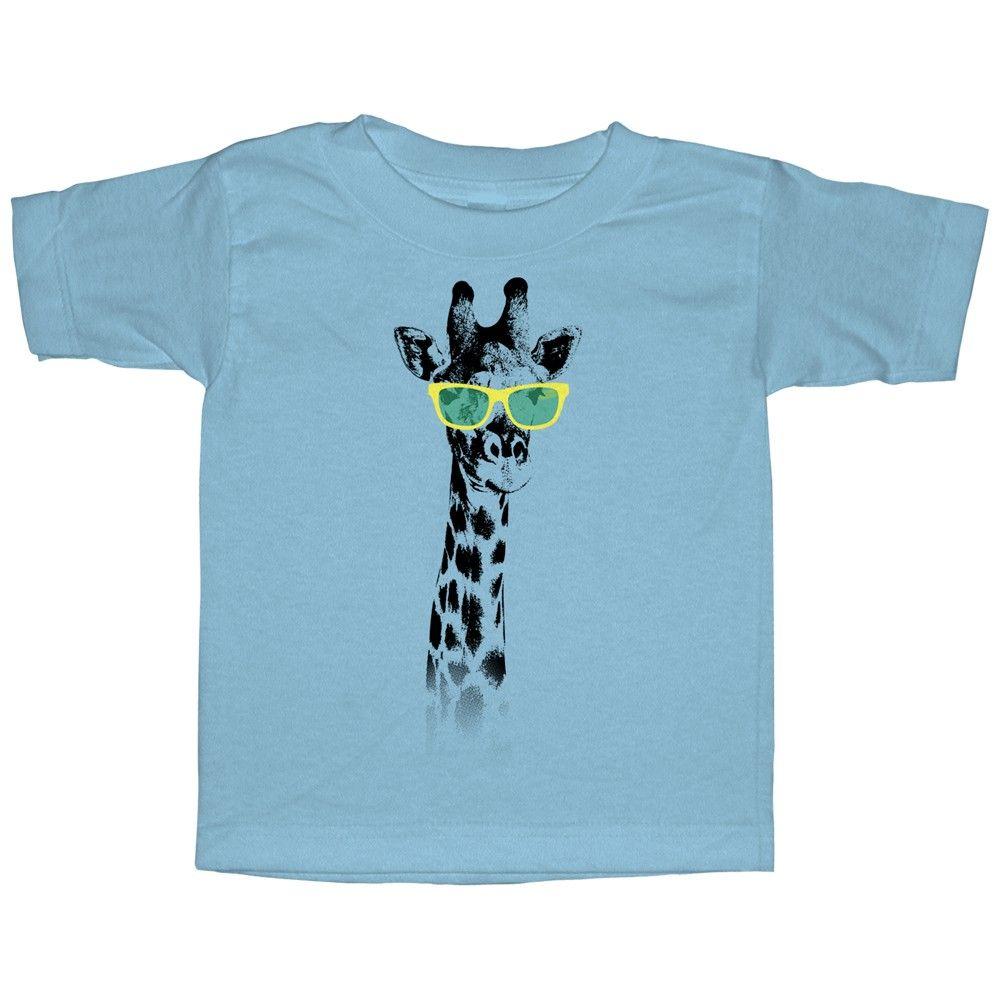 Lost Gods Toddler - Giraffe in Sunglasses T Shirt #giraffe #sunglasses #zoo #summer #toddler