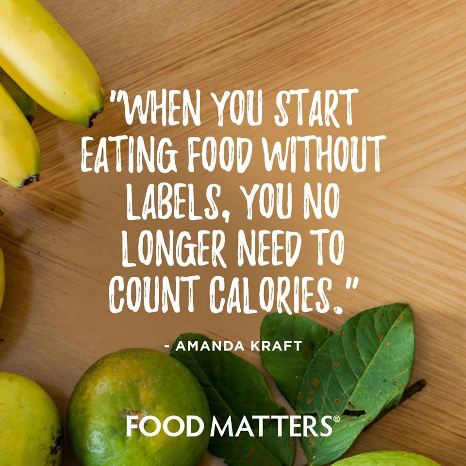 Count nutrients over calories..