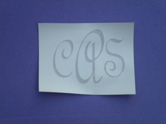 Glass Etching Stencil 4 Monogram Or Name Stencils By