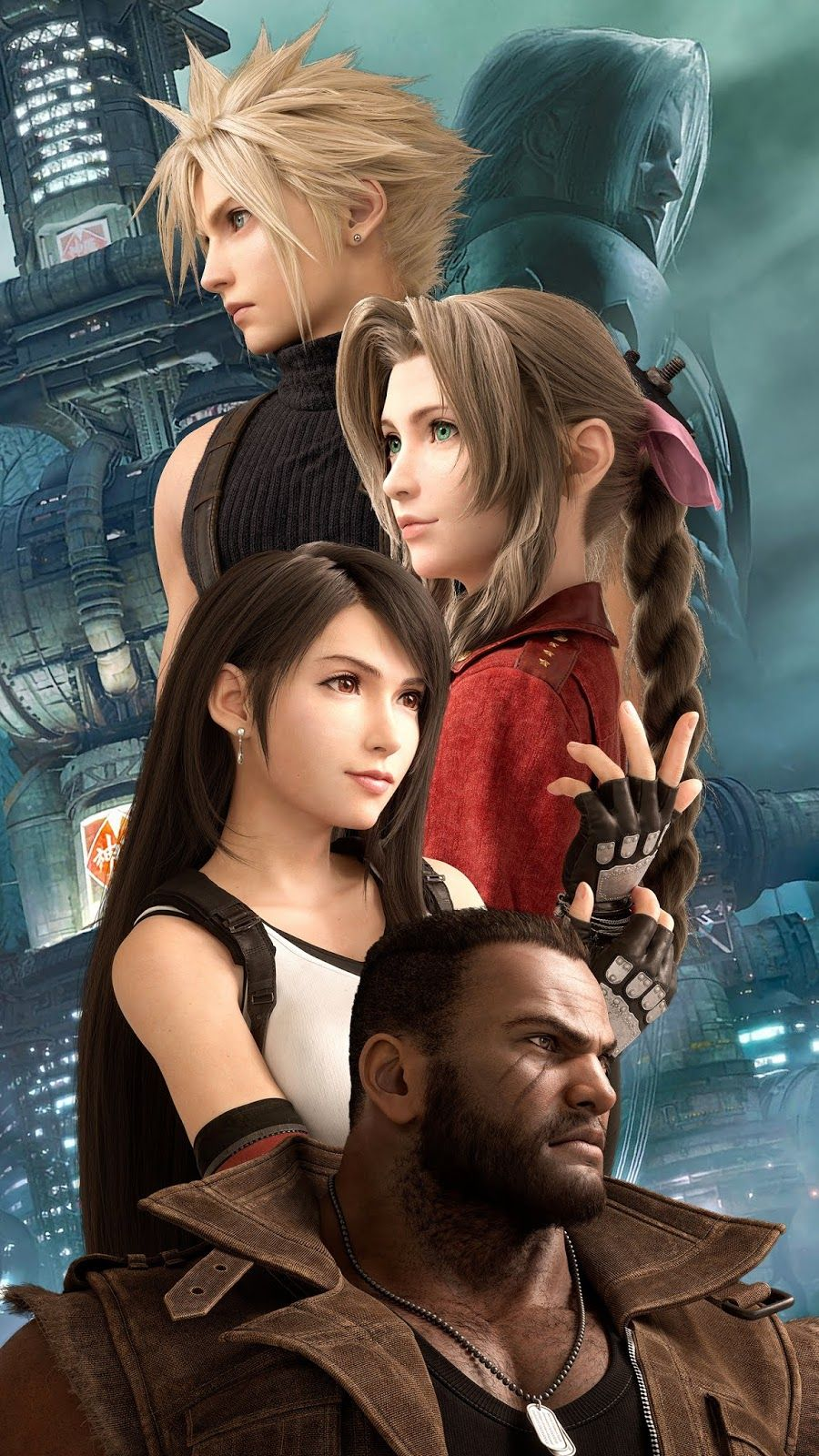 Final Fantasy 7 Remake Wallpaper Iphone Android Background Followme Final Fantasy Girls Final Fantasy Cloud Final Fantasy Vii Cloud