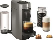 Nespresso - VertuoPlus Coffee Maker and Espresso Machine with Aeroccino Milk Frother by DeLonghi - Gray #espressomaker