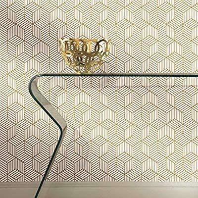 Stripped Hexagon Repositionable and Removable Peel and