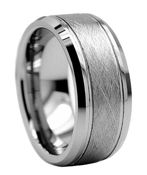 lacerated silver tungsten mens ringsmens silver wedding - Mens Silver Wedding Rings