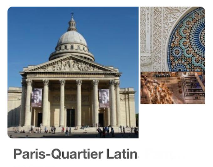 Tableau de Paris7 Quartier Latin  n°106