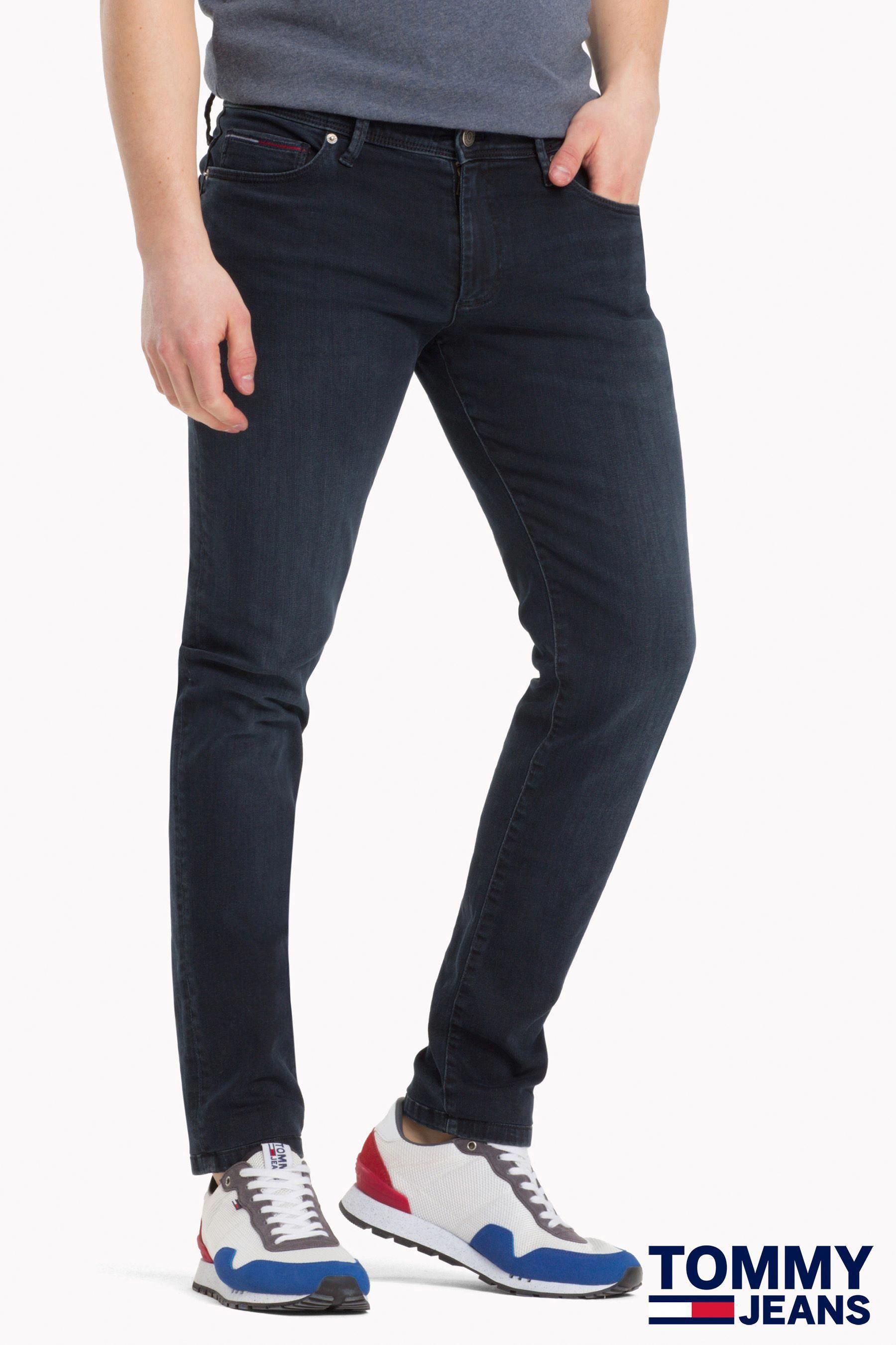 76225b8c Mens Tommy Jeans Skinny Simon Cobble Black Jean - Grey | Mens Jeans ...