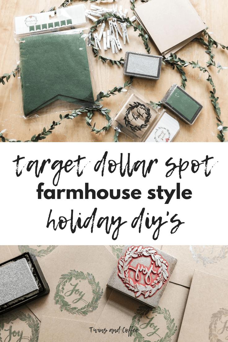 Target Dollar Spot Holiday DIY Ideas for Christmas Cards