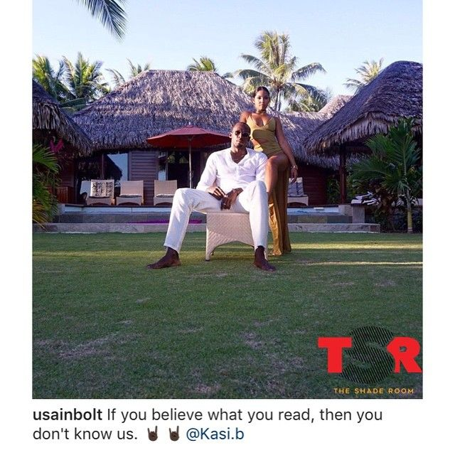It looks like Usain Bolt and Kasi B are still going strong #BaeWatch