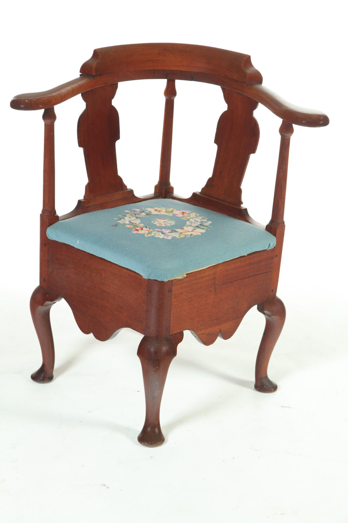 Queen Anne Corner or Roundabout Chair Probably ...