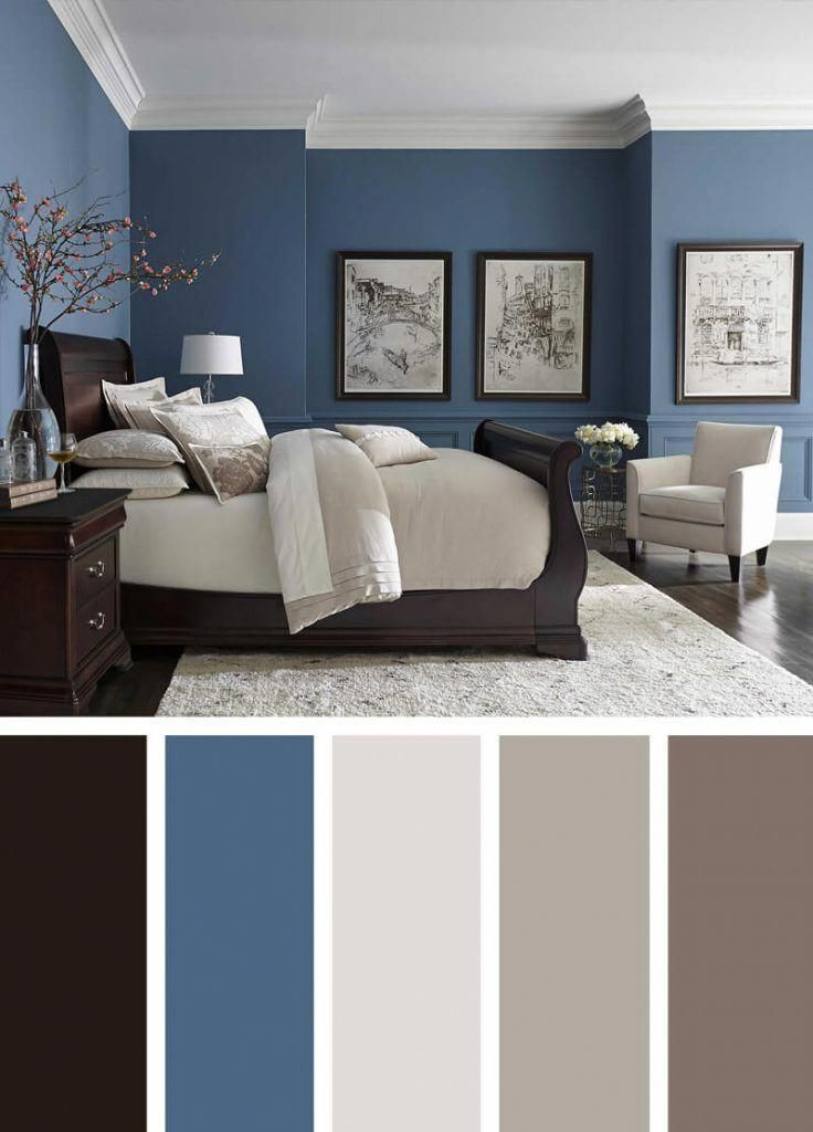 Blue Walls Dark Floors Bright Neutrals