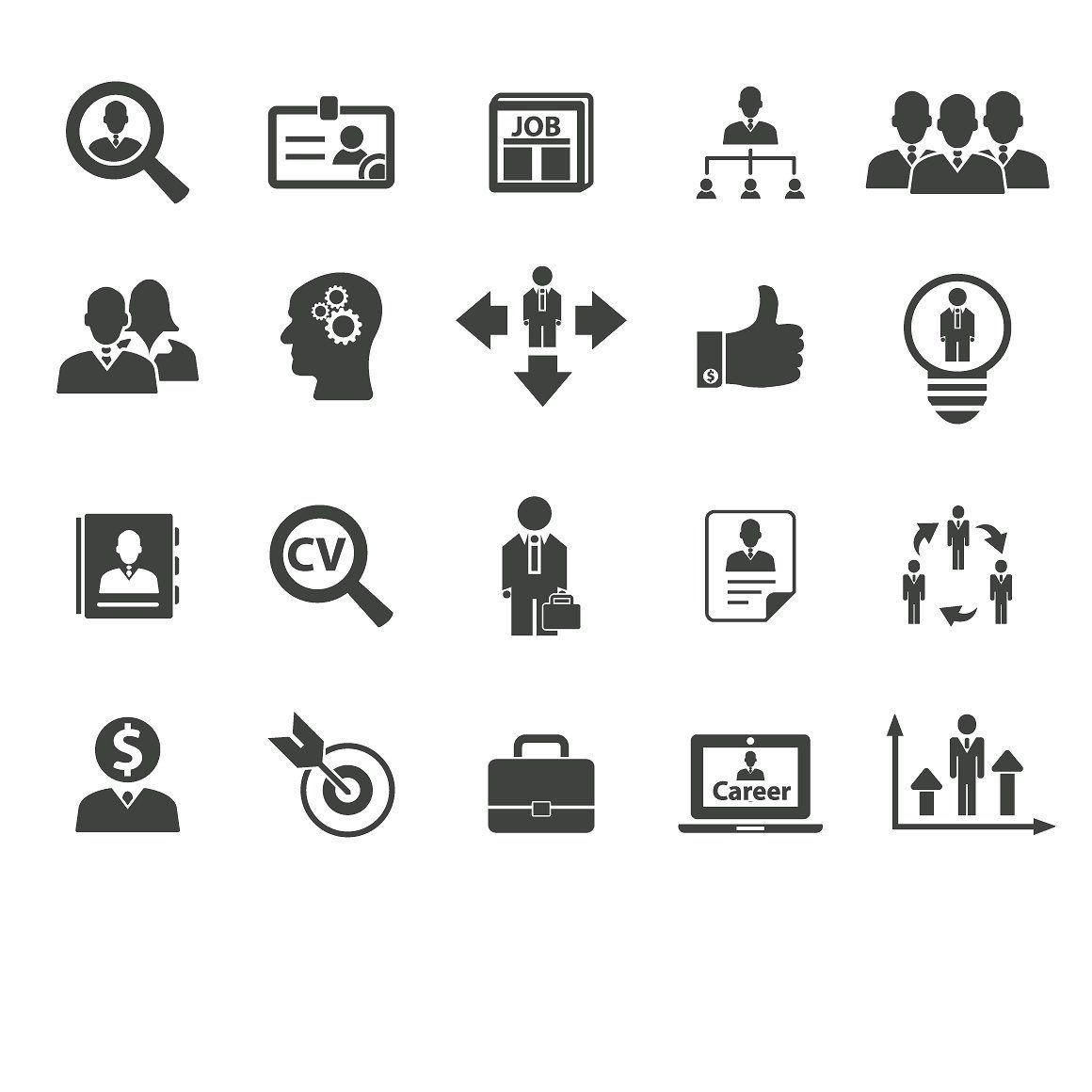 20 Career And Job Icons Icon Career Career Growth