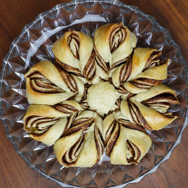 Nutella Star Bread (Tear and Share Bread) #tearandsharebread
