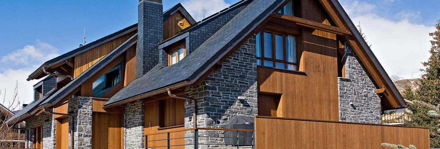 Casa de montaña con fachada de madera #arquitectura #casa #madera - fachada madera