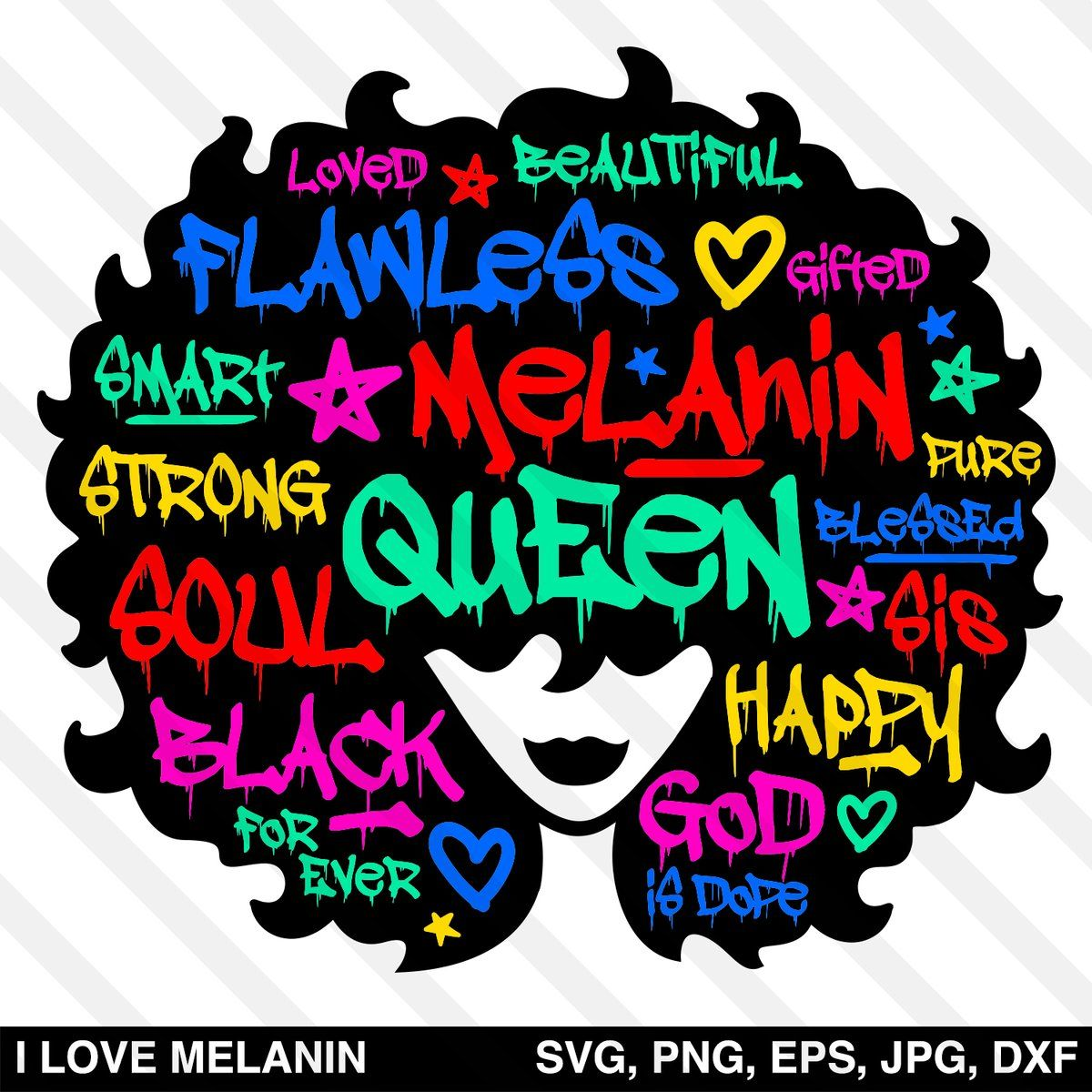 Graffiti Black Queen Afro Woman SVG in 2020 How to make