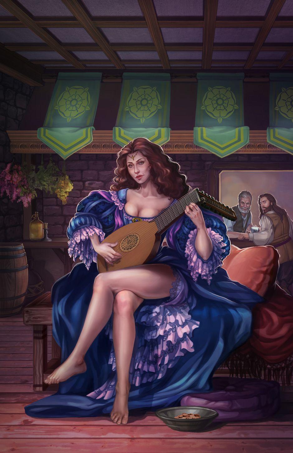 Jugador del laúd por Courtney Trowbridge | ilustración | 2D | CGSociety