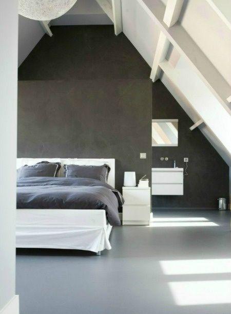 Slapen op zolder - slaapkamer http://www.stijlhabitat.nl/slapen-op ...