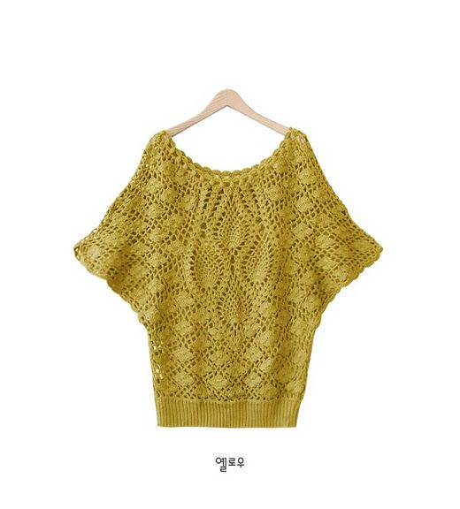 Receitas de Crochet: blusas de crochet com manga morcego