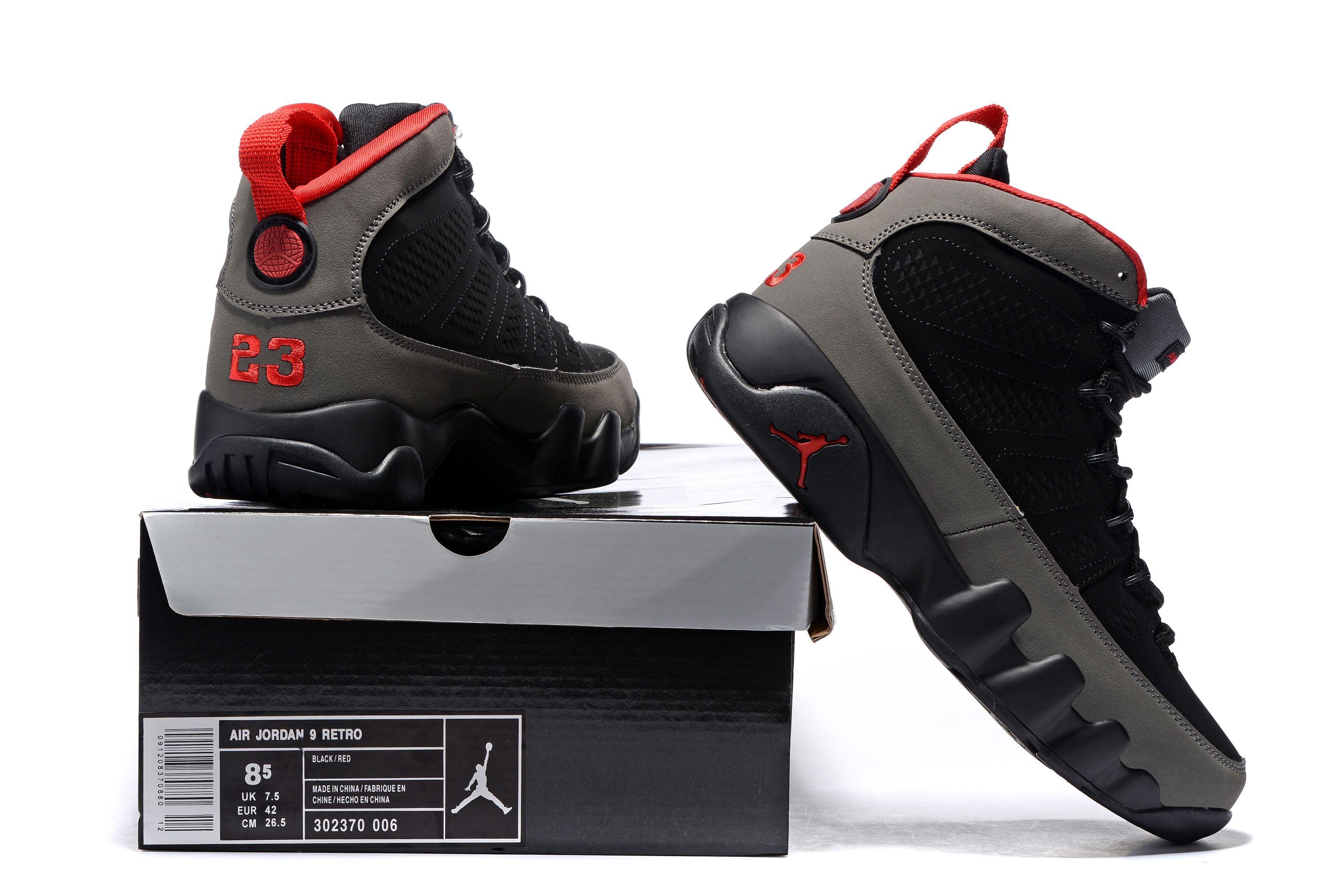jordan 9 retro black and red