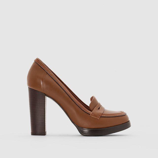 date de sortie d34e1 f72fe Escarpins en cuir, talon | MODE Chaussures | Mocassins ...
