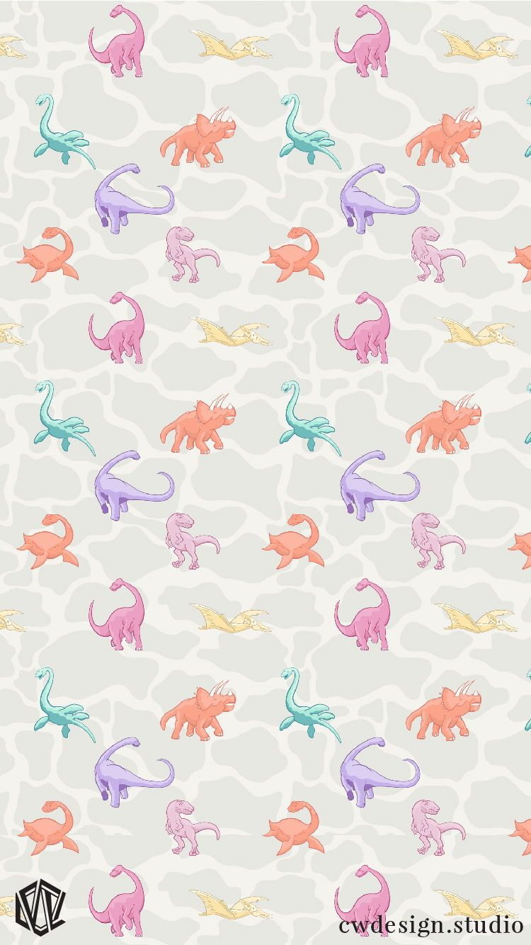 Dinosaur Design For Girls Princess Awesome Pink Dinosaurs Dinos For Girls Dinosaur Wall Paper Back Dinosaur Wallpaper Wallpaper Iphone Cute Iphone Wallpaper