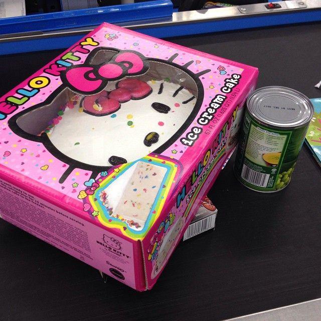 Wondrous Hellokitty Icecreamcake From Walmart Carvel Hello Kitty Personalised Birthday Cards Paralily Jamesorg