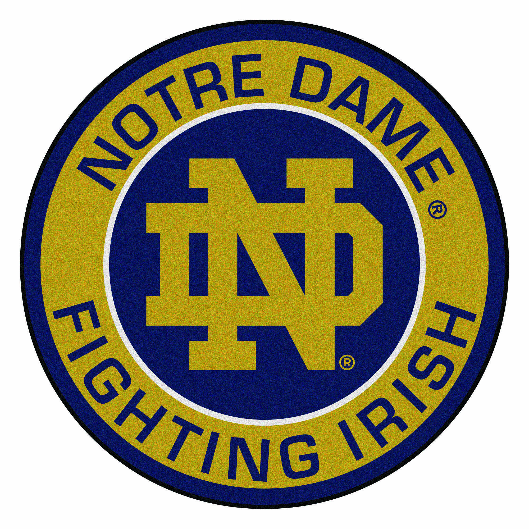 27 Brown And Purple Ncaa Notre Dame Fighting Irish Rounded Door Mat In 2021 Notre Dame Fighting Irish Fighting Irish Notre Dame University