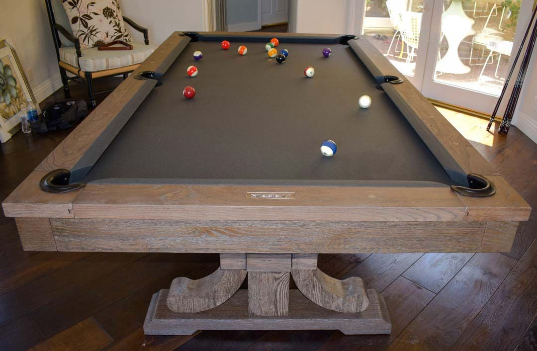 The Carmel Pool Table Dining Weathered Oak Finish Convertible Pool Table Dining Room Pool Table Pool Table Dining Table