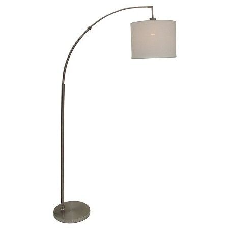 Arc floor lamp silver includes energy efficient light bulb project 62