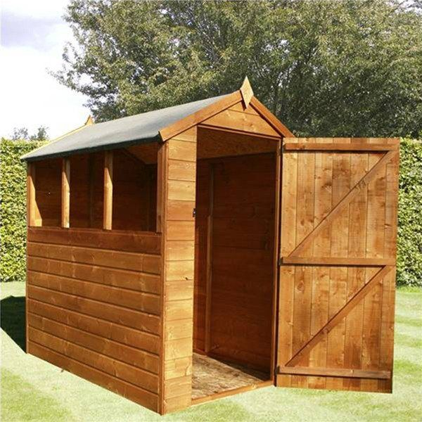 Diy Sheds For Sale: Mercia 6 X 4 Shiplap Traditional Apex Wooden Shed