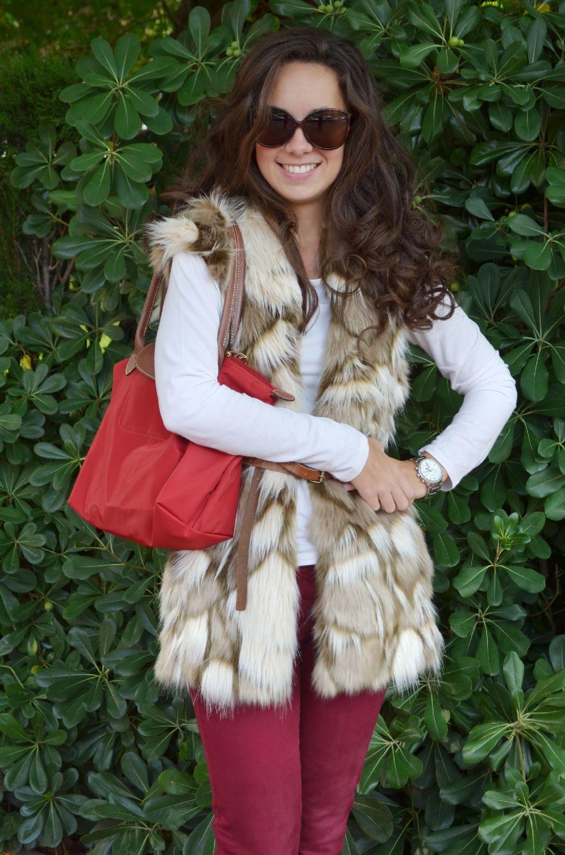 Chaleco de pelo sintético // Synthetic Fur Vest : Street Style Outfit : MartaBarcelonaStyle's Blog