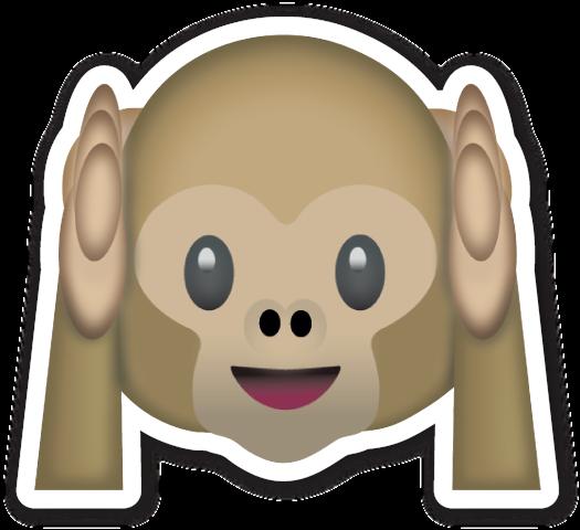 Hear No Evil Monkey Emoticones Emoji Emojis Emoticonos