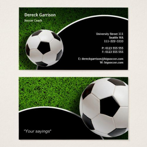 Soccer Coach Sports Gifts Business Card Zazzle Com In 2020 Soccer Coaching Soccer Sports Coach