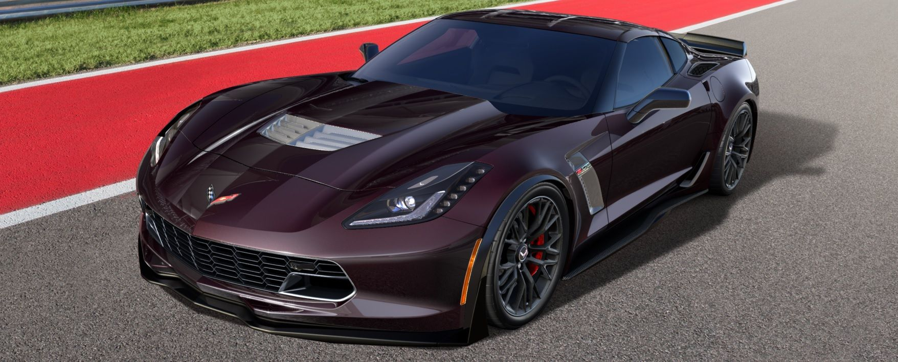 Black Rose Metallic 2017 Chevy Corvette Z06 with Z07 and other