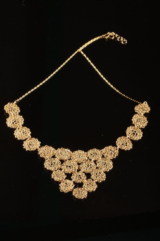 Gold lace necklace k gold filled necklace filigree necklace set