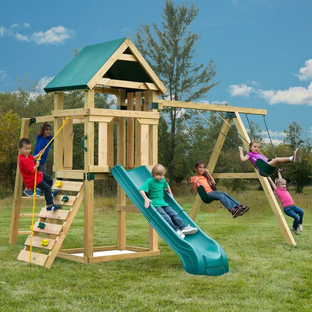 Swing N Slide Playsets Hawk S Nest Playset With Summit Slide Pb