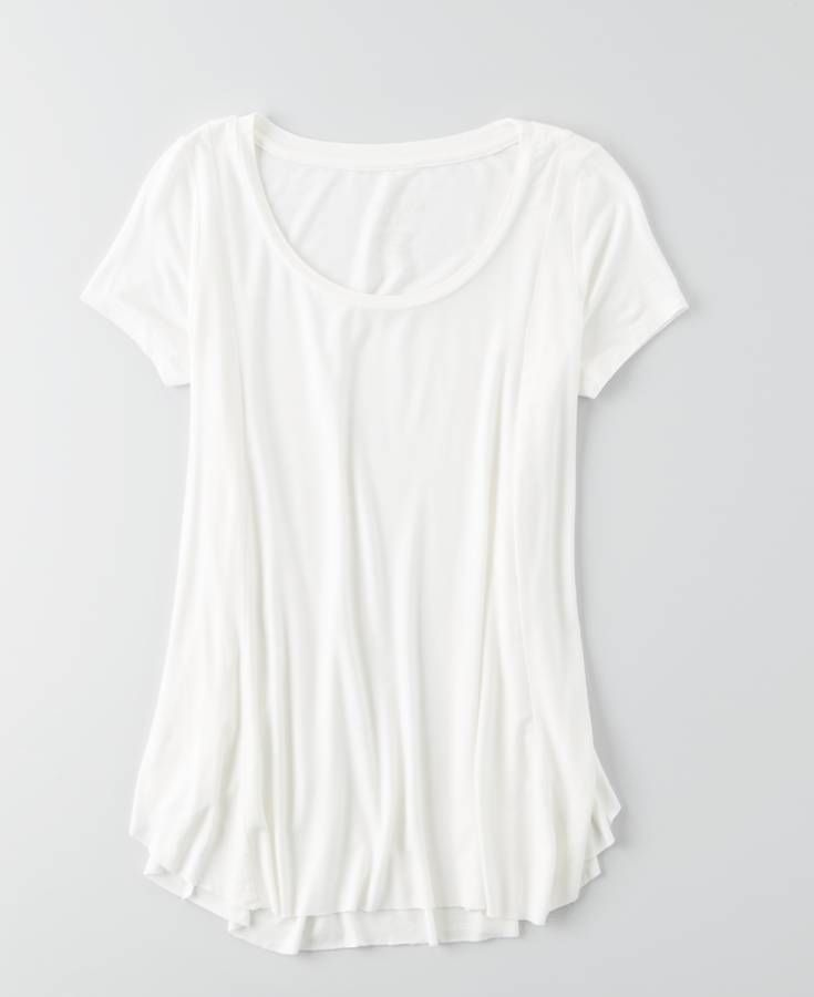 AEO Soft & Sexy Flowy T-Shirt, Women's, White | Her Clothing ...