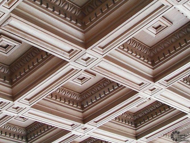Carved wood coffered ceiling - The Coffered Ceiling for ...