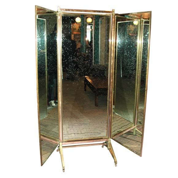 Full Length Three Way Rolling Mirror