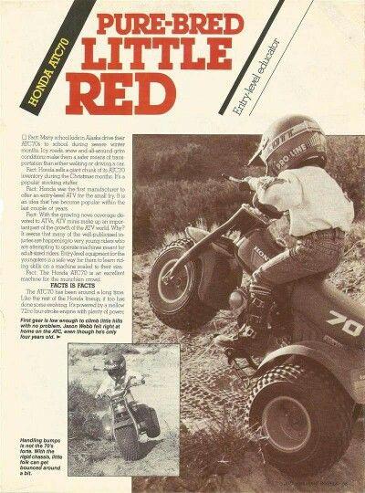 1985 Honda Atc 70 Advertisement 3 Wheeler Cool Dirt Bikes Classic Honda Motorcycles Dirtbikes
