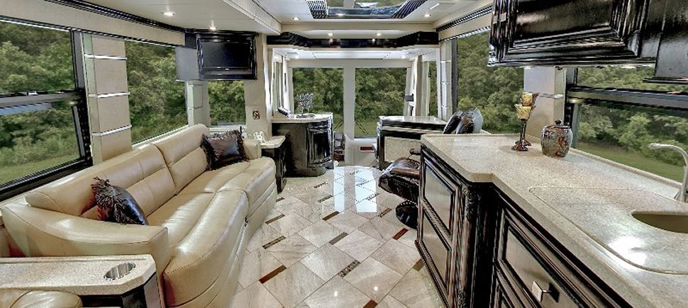 Luxury rvs and motorhomes from outlaw coach prevost motor for Million dollar motor coaches