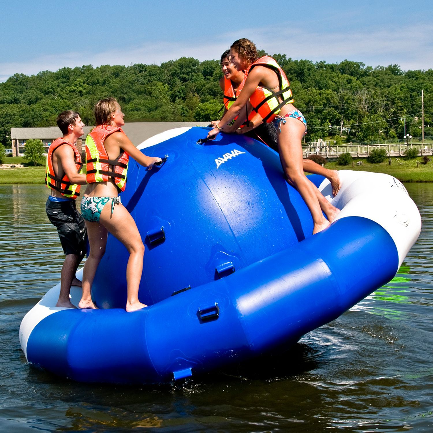 Rave Sports 12 foot Inflatable Saturn Inflatable Water Toy by