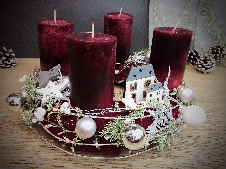 Adventskalender Adventskranz Grosse Hauser Kerzen Kugeln Led