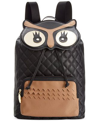 34a2509a7c Betsey Johnson Owl Backpack - Backpacks - Handbags   Accessories - Macy s