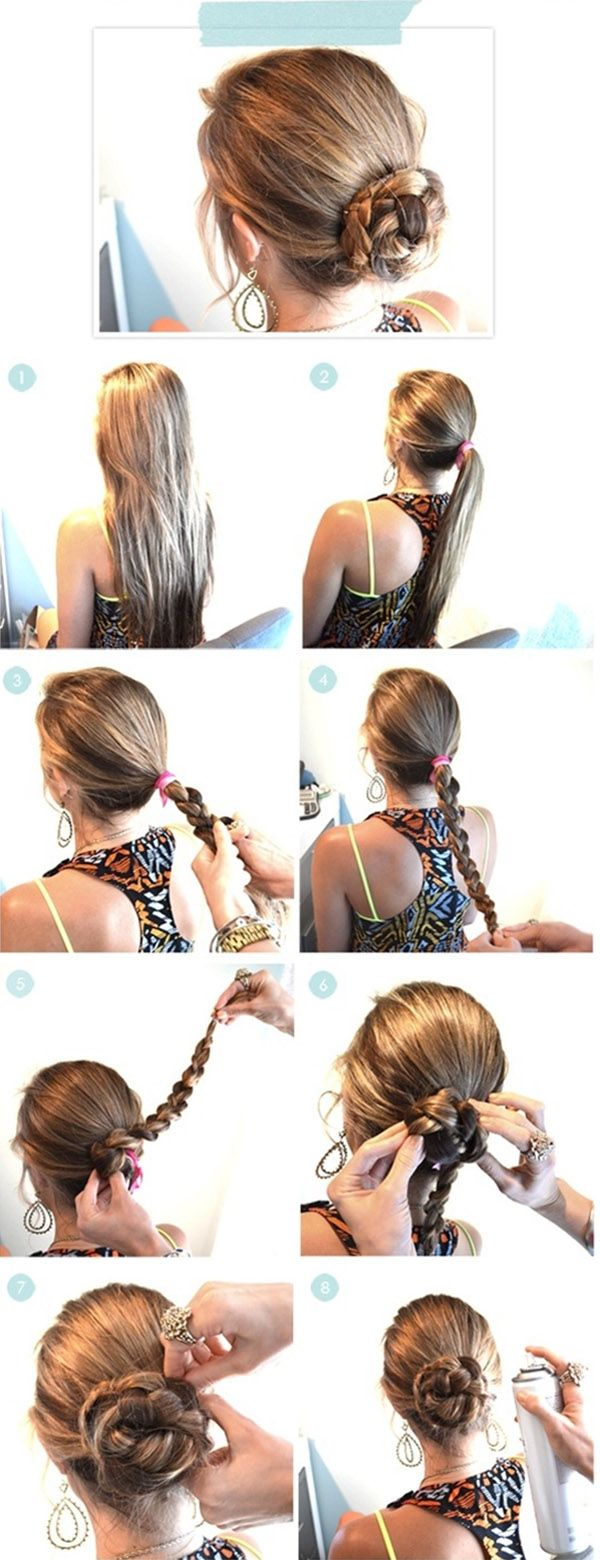 Super Easy Hairstyles Steps For Summer | trends4everyone | Hair | Hair styles, Hair, Hair beauty ...