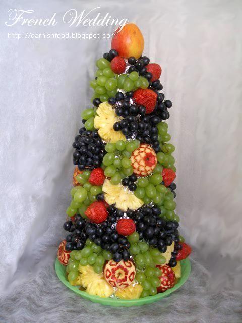 French Wedding Fruit Tower Food Art Food Garnishes