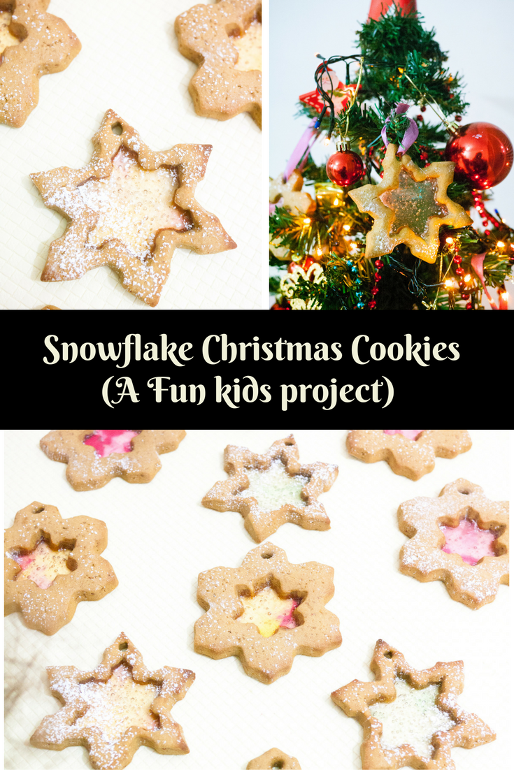 SNOWFLAKE CHRISTMAS COOKIES – CHRISTMAS BAKING  These Snowflake Christmas Cookies are made using kids favorite gingerbread cookie dough and hard candy. Such a fun project to get kids involved in Christmas baking. Just roll the dough; let them cut out the shapes and add the crushed candy. Christmas Cookies Baking cookies for christmas