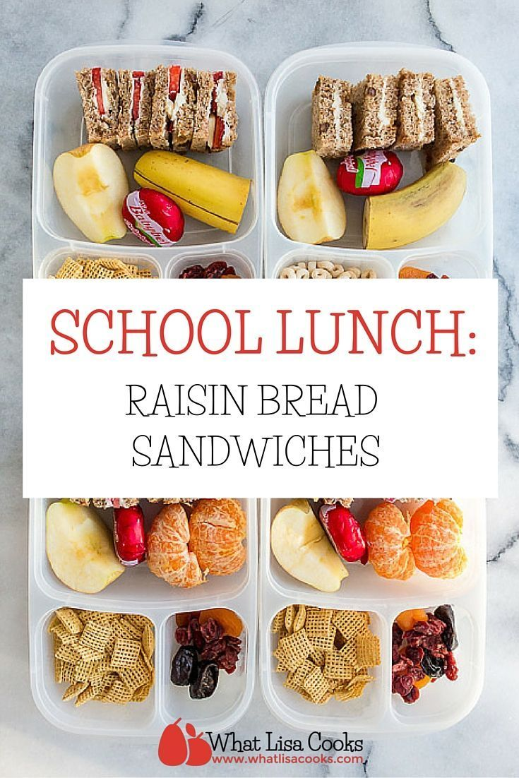 School Lunch Day 96 Raisin Bread Sandwiches And Fruit What Lisa Cooks Food Kids Lunch Raisin Bread